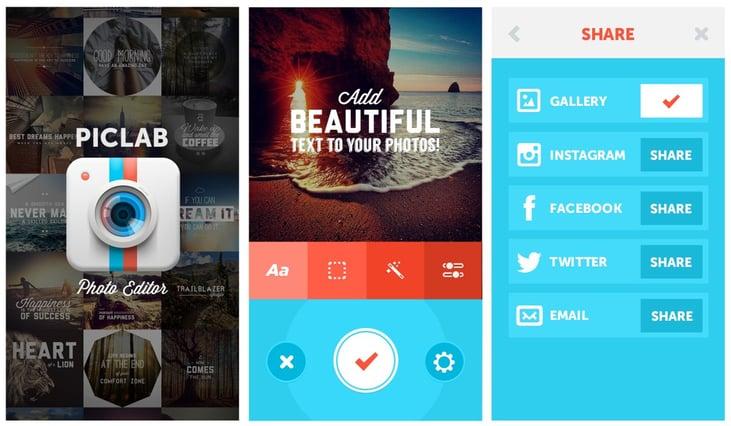 piclab mobile graphic design