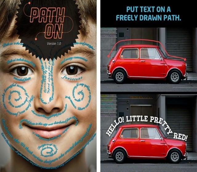 path on mobile graphic design