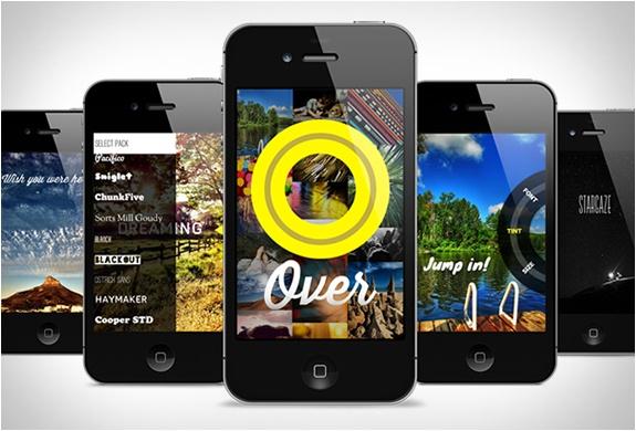 over mobile graphic design
