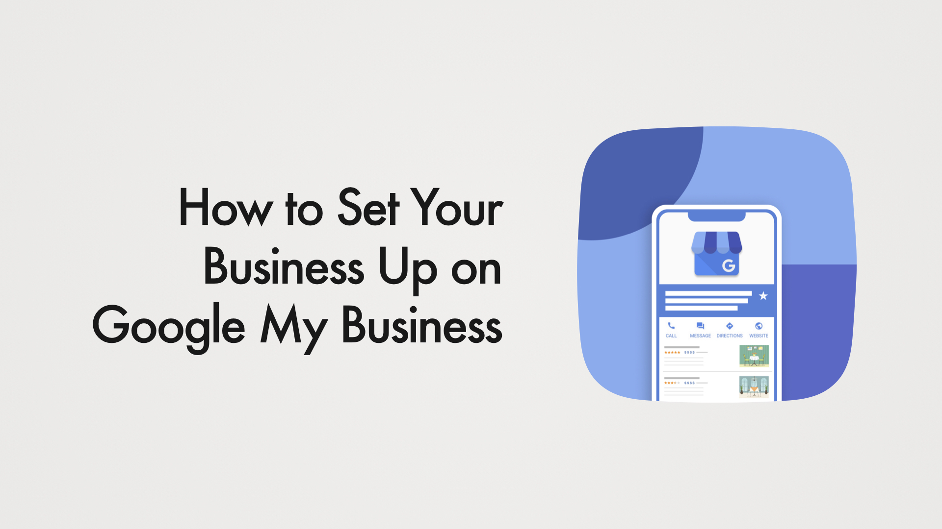 how to set your business up on google my business title card